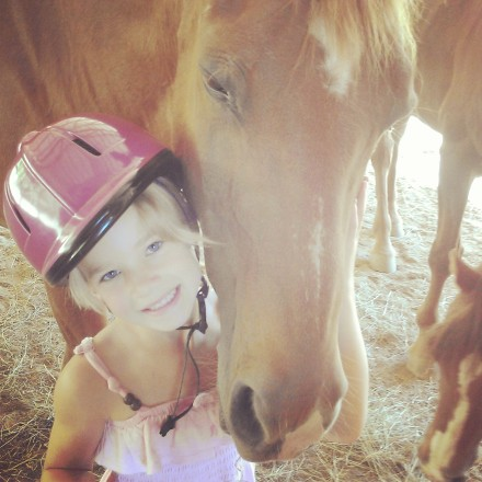 This is Red, a horse at the barn where Anna went riding. I love this picture so much.