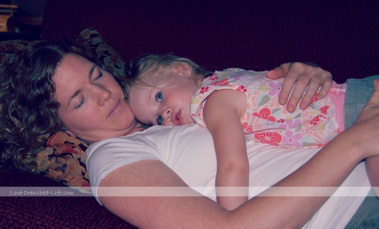 anna and mama sleeping