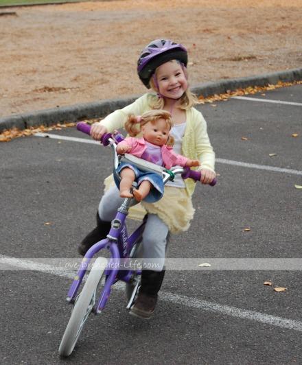 anna bike doll