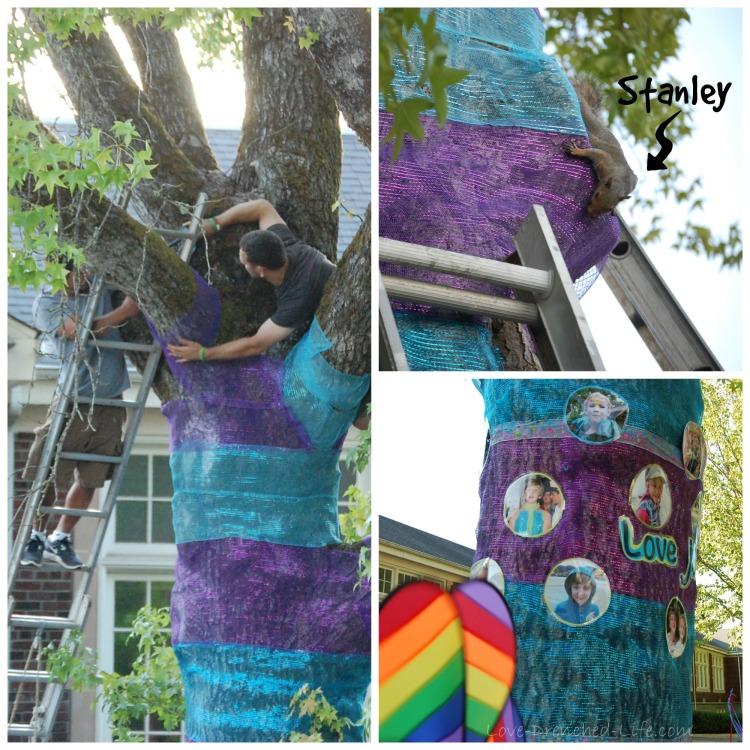 blue and purple tree