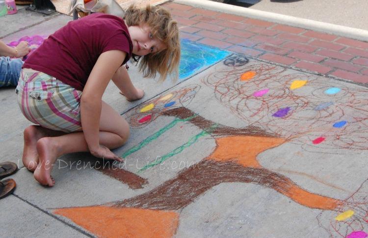 Abs chalk art