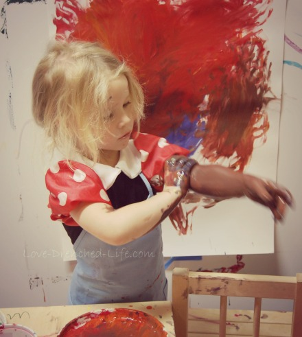 Anna painting