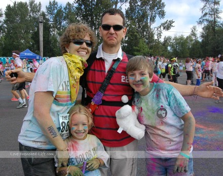 color run family